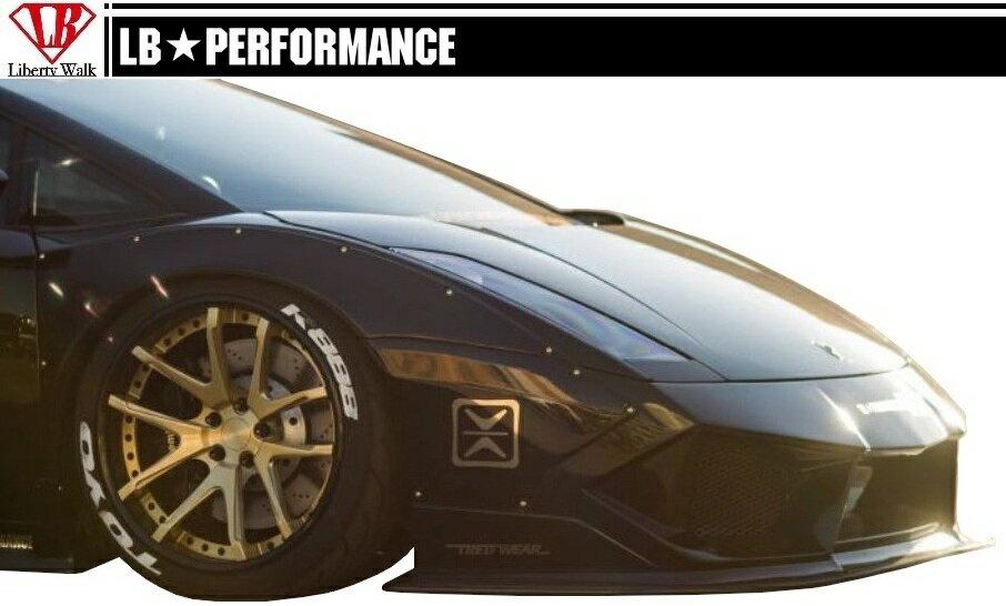 【M's】 ランボルギーニ ガヤルド LB☆PERFORMANCE エアロ フロント ディフューザー // F デフューザー / Lamborghini Gallard LB-WORKS Body kit リバティウォーク 新品