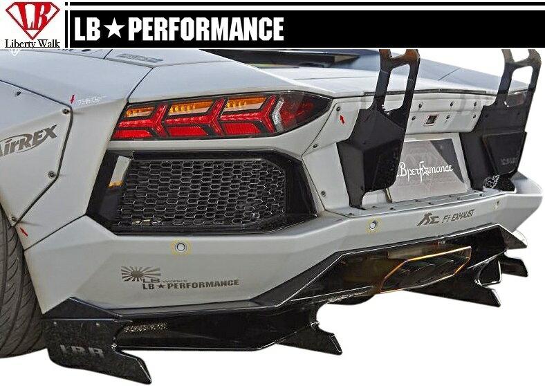 【M's】 ランボルギーニ アヴェンタドール LB☆WORKS フロント ディフューザー Ver.2 // Lamborghini Aventador リヤ R デフューザー / LB-PERFORMANCE Body kit FRP リバティウォーク 新品