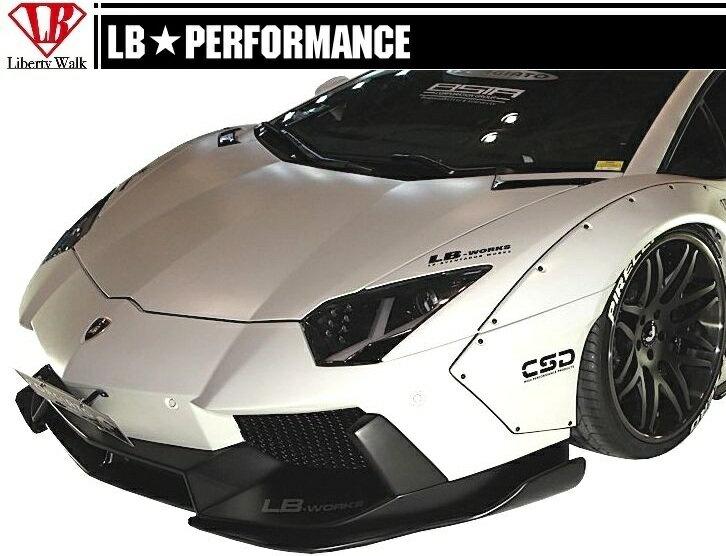 【M's】 ランボルギーニ アヴェンタドール LB☆WORKS フロント バンパー // Lamborghini Aventador F スポイラー / LB-PERFORMANCE Body kit FRP リバティウォーク 新品