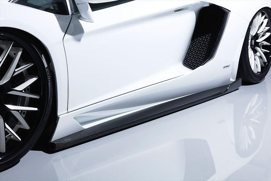 【M's】 ランボルギーニ アヴェンタドール サイド アンダー スポイラー カーボン製 / AIMGAIN GT / エイムゲイン エアロ // Lamborghini Aventador side under spoiler carbon