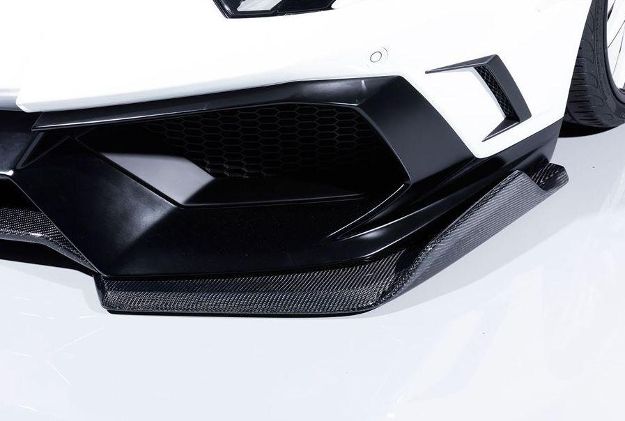 【M's】 ランボルギーニ アヴェンタドール フロント スプリッター カーボン製 / AIMGAIN GT / エイムゲイン エアロ // Lamborghini Aventador front splitter Carbon
