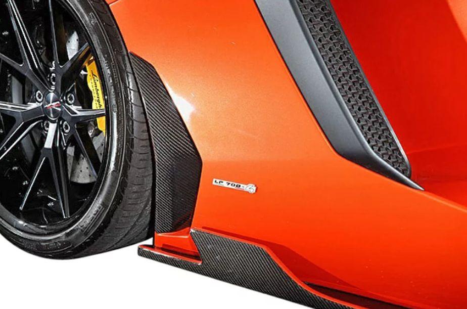 【M's】ランボルギーニ アヴェンタドール LP700-4(2011y-)LEAP DESIGN カーボン サイドダクトカバー 左右//Lamborghini Aventador リープデザイン 新品