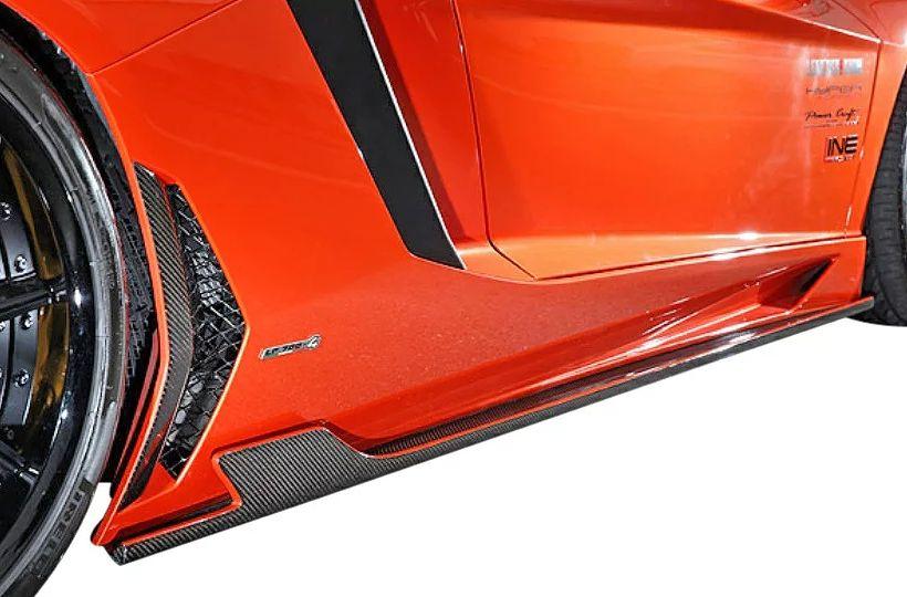 【M's】ランボルギーニ アヴェンタドール LP700-4(2011y-)LEAP DESIGN サイドスカート 左右//Lamborghini Aventador リープデザイン L/R