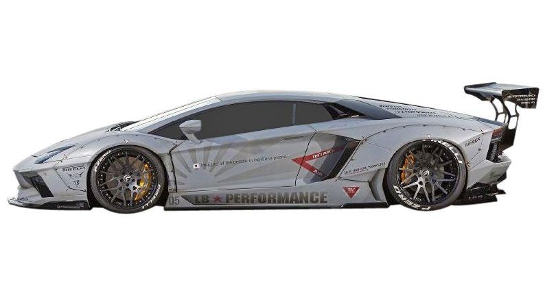 【M's】ランボルギーニ アヴェンタドール LB☆WORKS サイド ディフューザー // Lamborghini Aventador S デフューザー / LB-PERFORMANCE Body kit FRP リバティウォーク 単品
