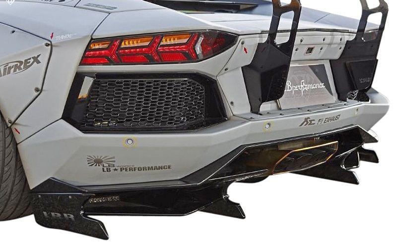 【M's】ランボルギーニ アヴェンタドール LB☆WORKS リア ディフューザー Ver.2 // Lamborghini Aventador リヤ R デフューザー / LB-PERFORMANCE Body kit FRP リバティウォーク 新品