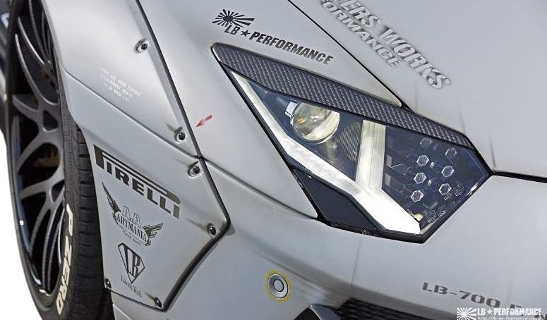 【M's】ランボルギーニ アヴェンタドール LB☆WORKS ヘッドライト アイライン CFRP // Lamborghini Aventador /HL カバー eye line/ LB-PERFORMANCE Body kit リバティウォーク 単品