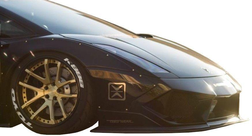 【M's】ランボルギーニ ガヤルド LB☆PERFORMANCE エアロ フロント ディフューザー // F デフューザー / Lamborghini Gallard LB-WORKS Body kit リバティウォーク 新品