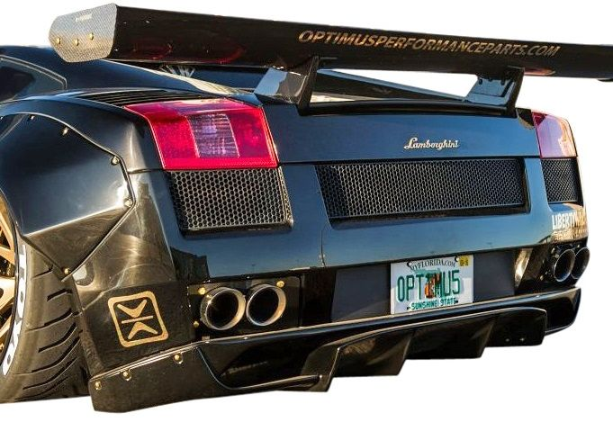 【M's】ランボルギーニ ガヤルド LB☆PERFORMANCE エアロ リア ディフューザー Ver.2 // R デフューザー / スポイラー / Lamborghini Gallard LB-WORKS Body kit リバティウォーク 新品