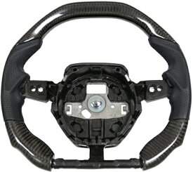 【M's】ランボルギーニ ウラカン LP610 (2014y-) iiD製 カーボン ステアリング (パンチングレザー+ブラック)//CARBON ガングリップ ハンドル コンビハンドル コンビステアリング カスタム Lamborghini Huracan LP610 Steering