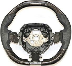【M's】ランボルギーニ アヴェンタドール SV (2011y-) iiD製 カーボン ステアリング (黒パンチングレザー+黒ステッチ +センターマーキング無し)//CARBON ガングリップ ハンドル コンビハンドル コンビステアリング ランボ Lamborghini Aventador SV アベンタドール