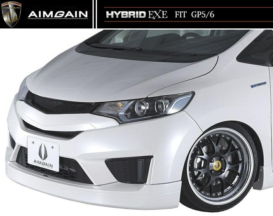 【M's】フィット 1.5 ハイブリッド フロント ハーフ スポイラー / AIMGAIN / エイムゲイン エアロ // GP5/GP6 / ホンダ HONDA FIT JAZZ HYBRID L F S パッケージ 4WD