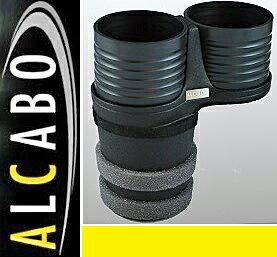 【M's】ボルボ S60/V60(2011y-) XC60(2009y-)ALCABO ドリンクホルダー(ブラックカップタイプ)//社外品 アルカボ VOLVO センターコンソール用 カップホルダー AL-B107B ALB107B