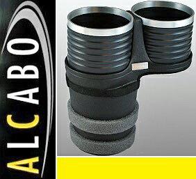 【M's】ボルボ S60/V60(2011y-) XC60(2009y-)ALCABO ドリンクホルダー(ブラック+リング カップタイプ)//社外品 アルカボ VOLVO センターコンソール用 カップホルダー AL-B107BS ALB107BS