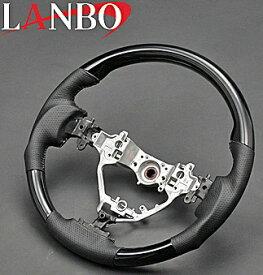 【M's】トヨタ NOAH/VOXY/Esquire 80系(ZRR80/85)LANBO製 ガングリップタイプ コンビステアリング(ピアノブラック)//TOYOTA ノア ヴォクシー ボクシー エクスワイア エスクァイア 80 社外品 ランボ オリジナル ハンドル