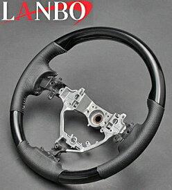 【M's】トヨタ NOAH/VOXY/Esquire 80系(ZRR80/85)LANBO製 ノーマルグリップタイプ コンビステアリング(ピアノブラック)//TOYOTA ノア ヴォクシー ボクシー エクスワイア エスクァイア 80 社外品 ランボ オリジナル ハンドル