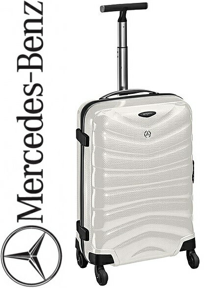 【M's】ベンツ純正品 サムソナイト スーツケース(4輪)35L ダイヤモンドホワイト//白 B66953138 メルセデスベンツ 正規品 旅行カバン 旅行ケース