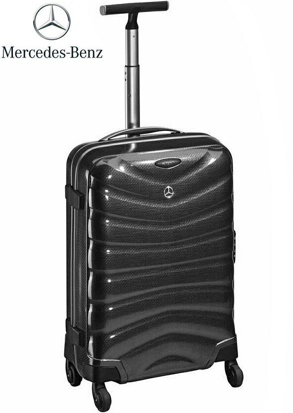 【M's】ベンツ純正品 サムソナイト スーツケース(4輪)35L ダイヤモンドホワイト//黒 B66951616 メルセデスベンツ 正規品 旅行カバン 旅行ケース
