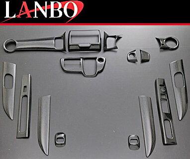 【M's】ホンダ N-BOX(JF1/JF2)LANBO製 3Dインテリアパネル 15ピースセット (黒木目調)//社外品 ABS樹脂 ランボ オリジナル 室内パネル HONDA NBOX Nボックス パネルセット バーズアイ