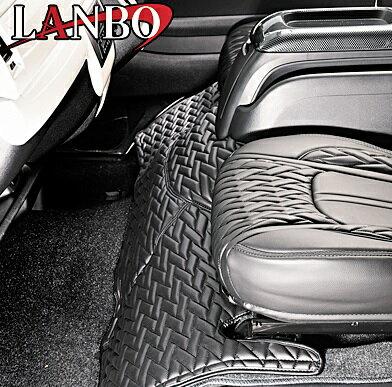 【M's】トヨタ ハイエース 200系 1-4型(標準ボディー)LANBO製 エンジンフードカバー TYPE LUXE (ブラック×ブラック×ブラックステッチ)//社外品 ランボ TOYOTA HIACE ハイエース200 200ハイエース レジアスエース