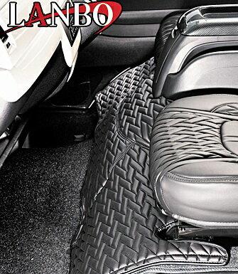 【M's】トヨタ ハイエース 200系 1-4型(ワイドボディー)LANBO製 エンジンフードカバー TYPE LUXE (ブラック×ブラック×ブラックステッチ)//社外品 ランボ TOYOTA HIACE ハイエース200 200ハイエース レジアスエース