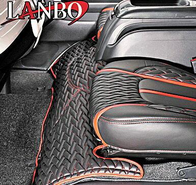 【M's】トヨタ ハイエース 200系 1-4型(ワイドボディー)LANBO製 エンジンフードカバー TYPE LUXE (ブラック×レッド×レッドステッチ)//社外品 ランボ TOYOTA HIACE ハイエース200 200ハイエース レジアスエース
