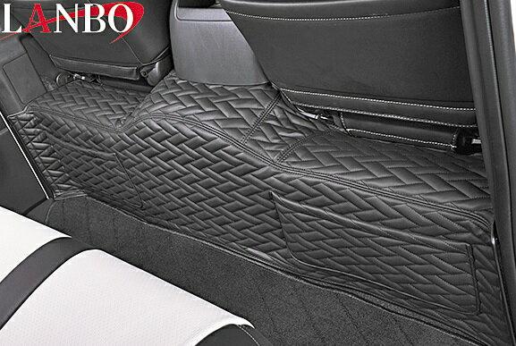 【M's】トヨタ ハイエース 200系 1-4型(標準ボディー) LANBO製 セカンドデッキカバー TYPE LUXE (ブラック×ブラック×ブラックステッチ)//社外品 ランボ LANBO リアデッキ リヤデッキ TOYOTA HIACE ハイエース200 200ハイエース レジアスエース