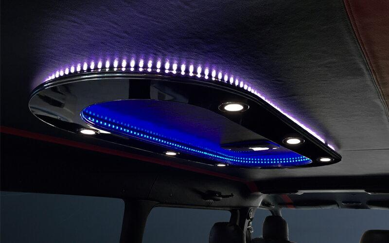 【M's】トヨタ ハイエース 200系 (1-4型)Dynasty 室内 オーバルシーリングライト (ダウンライト6個)//ルームランプ 室内ライト ダイナスティ レジアスエース 200ハイエース ハイエース200 社外品 TOYOTA HIACE REGIUSACE FRP