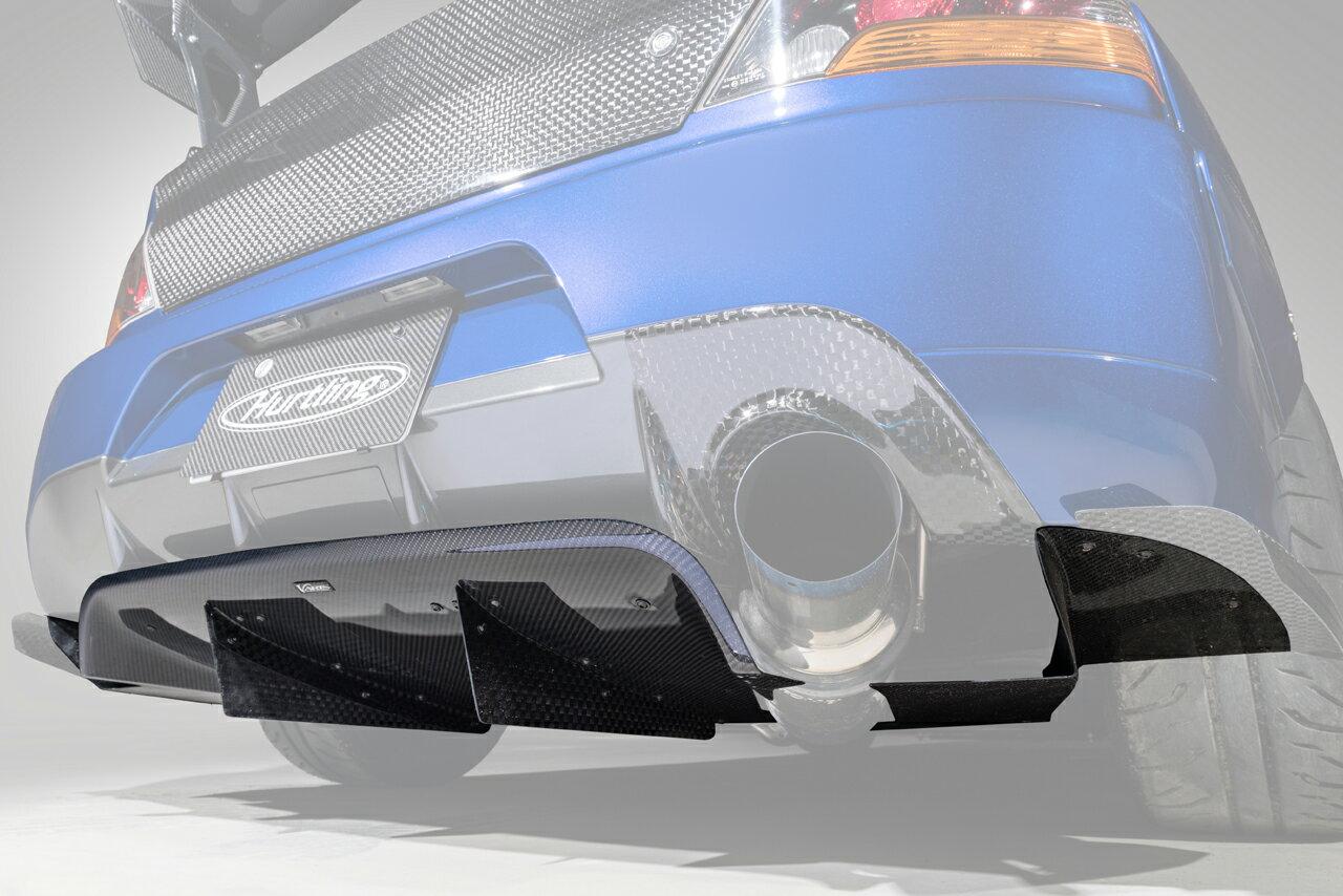 【M's】三菱 EVO9 ランサーエボリューション9 (2005y-2007y) VARIS Solid Joker リアディフューザー//HAM003H HALF CARBON ハーフカーボン バリス ソリッドジョーカー エアロ リヤディフューザー ディフューザー ランエボ ランエボ9 エボ9 エボ