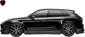 【M's】ポルシェ カイエン 9YA (2018y-) WALD Black Bison サイドステップ 左右//FRP製 ヴァルド バルド ブラックバイソン エアロパーツ エアロキット エアロ サイドスカート Porsche CAYENNE 現行型 新型