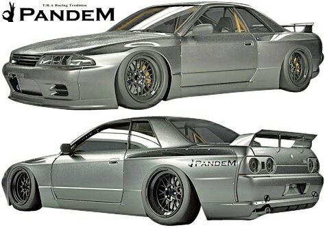 【M's】ニッサン R32 GT-R (1989y-1994y) PANDEM ワイドボディキット 5点 (F+S+FF+RF+W)//CARBON製 TRA京都 パンデム ロケットバニー ロケバニ エアロ エアロキット エアロセット フルキット フルエアロ ワイドフェンダー オーバーフェンダー BNR32 スカイライン GTR