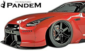 【M's】NISSAN R35 GT-R PANDEM フロントフェンダー 左右//FRP CARBON カーボン TRA京都 パンデム ロケットバニー ロケバニ エアロ ワイドフェンダー オーバーフェンダー ニッサン 日産 スカイライン GTR Wide body kit