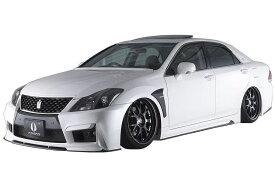 【M's】クラウン アスリート 200 後期(2010.2-2012.11)エアロ 4点 セット / AIMGAIN // フロント & リア バンパー / サイド ステップ / マフラーフィニッシャー / トヨタ TOYOTA CROWN ATHLETE GRS 200 201 / 純VIP GT FULL KIT