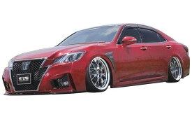 【M's】クラウン アスリート 210 後期(H27.10-)フル エアロ 3点 セット / AIMGAIN // フロント バンパー / サイド ステップ / リア アンダー ディフューザー トヨタ TOYOTA CROWN ATHLETE 210 / 純VIP GT FULL KIT