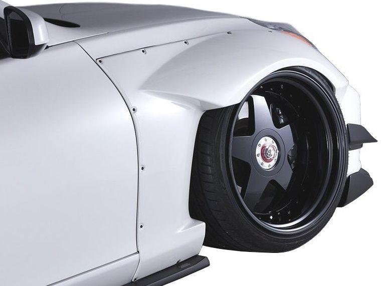 【M's】NISSAN Z34 フロント オーバー フェンダー +50mm / AIMGAIN GT/エイムゲイン エアロ // 日産 フェアレディ Z FAIRLADY 370Z