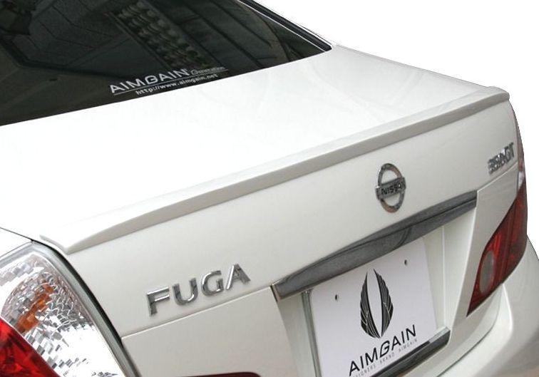 【M's】フーガ Y50 前期(H16.10-H19.11)250GT/350GT トランク スポイラー / AIMGAIN エイムゲイン エアロ // 日産 NISSAN FUGA / Generation TRUNK SPOILER
