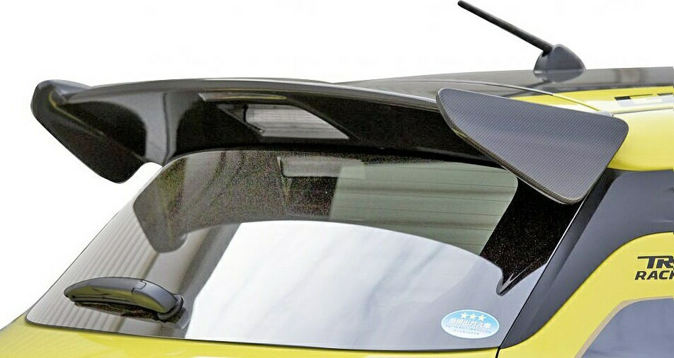 【M's】スズキ スイフトスポーツ ZC33S(17.09-)TRUST GReddy リアウィングスポイラー(カーボン)//17091023 トラスト シンプル エアロ パーツ ウイング リヤウイング 羽 SUZUKI SWIFT スイフト 社外品 未塗装 受注生産品