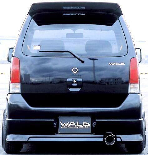 【M's】 スズキ ワゴンR/RR(MC11s/12s/21s/22s/H12.12-H15.9/MC後)ヴァルド WALD スポーツライン リアスカート 未塗装 バルド R リヤ 受注生産 高品質 オーダー 新品