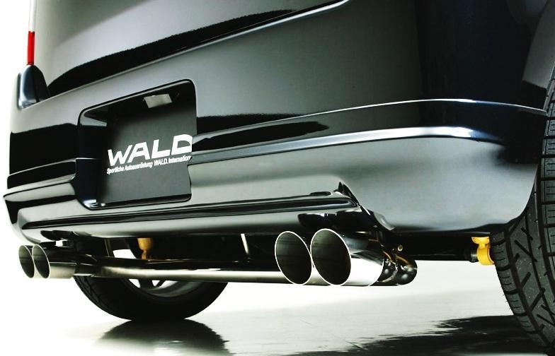 【M's】スズキ ワゴンR(MH21S/H15.9-H17.8/MC前)ヴァルド WALD エグゼクティブライン D.T.Mスポーツマフラー(オールステンレス/MAGNUM76W×2)新品