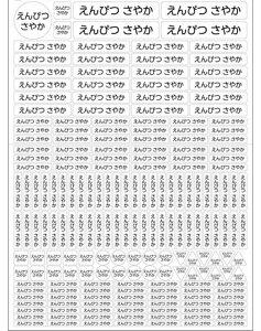 【送料無料】とっても「シンプルなお名前シール ラージタイプ イラスト無し」ネームシール ステッカーシール ネームラベル 名入れステッカー ラミネート 耐水 防水 レンジ