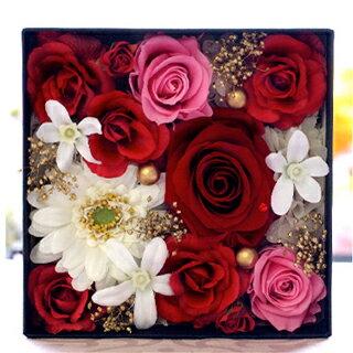 送料無料 プリザーブドフラワー ギフト 誕生日 バースデー BOX 誕生石 フラワーアレンジメント プリザーブド お花 フラワー 生花 ブリザードフラワー アレンジメントフラワー お祝い お返し お礼 御礼 女性 彼女 友達 友人 妻