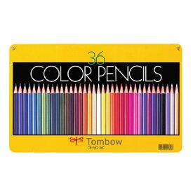 ポイント5倍 【メール便可】 トンボ 色鉛筆 カラーペンシル 36色 NQ 【TOMBOW】【油性色鉛筆】【小学校】【子ども】【入学】【新学期】【図工】【学童用】【36色セット】【メタルケース】 【缶入り】