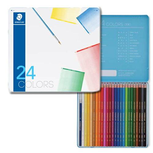 【メール便可】 ステッドラー ノリスクラブ水彩色鉛筆 メタルケース 24色セット 【ステッドラー】【STAEDTLER】【色鉛筆】【水彩色鉛筆】【色えんぴつ】【幼児用】【子ども用】【入学】【入園】