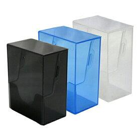 コアデ トレカデッキケース スリーブなしで120枚・スリーブつきで1デッキ分収納可能 (スモークブラック、クリア、スモークブルー)TCG/トレーディングカードケース/ハードケース/透明ケース