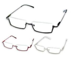 コアデ コスプレサポート 角型アンダーリム・メタル(黒/赤/銀 【コスプレ用小物】【メガネ】【眼鏡】【めがね】