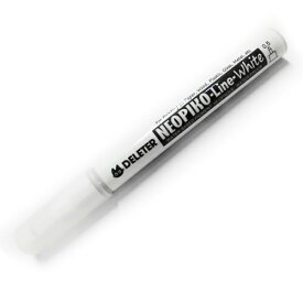 【メール便可】 デリーター ネオピコライン ホワイト(0.5mm)【不透明な白インク】【耐水性】【ホワイトペン】