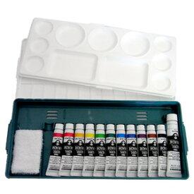 ターナー アクリルガッシュ組み合わせセット プライムセット(12A) 【アクリル絵の具セット】【アクリルガッシュセット】 パレット+アクリル絵の具11色(11ml)+ホワイト絵の具(20ml)+ミニ