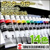 Case /11ml paint 14 colors /20mm white / mini-dishcloth with ターナーポスターカラープレンティセット (A) W palette