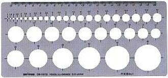 銅鑼路徑模板S型模板日圓直尺No1