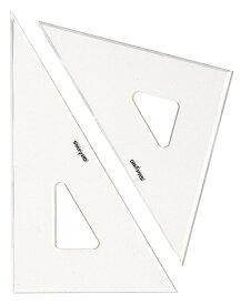 【メール便不可】ドラパス 三角定規 目盛なし 3mm厚 45cm 13036 【三角定規】
