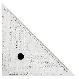 【メール便可】バンコ テンプレートプラス 三角定規45°(348-45)建築士試験受験者の声から生まれた製図作業時間短縮ツール/バンコテンプレートプラス/製図用テンプレート/三角定規45°/VAN